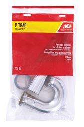 Ace  1-1/2 in. Dia. x 1-1/2 in. Dia. Slip To Slip  Chrome Plated  Brass  P Trap