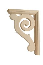 Waddell  Hardwood  Satin  Decorative  Shelf Bracket  8-1/2 in. L x 1-1/2 in. W x 6 in. H