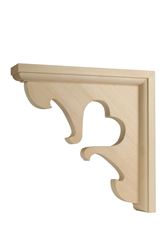 Waddell  Hardwood  Satin  Decorative  Shelf Bracket  7 in. L x 1-1/2 in. W x 7 in. H