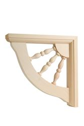 Waddell  Hardwood  Wood  Decorative  Shelf Bracket  7 in. L x 1-1/2 in. W x 7 in. H