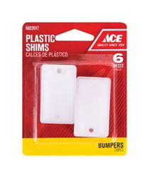 Ace  2 in. L x 1.1 in. W Plastic Shims