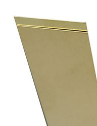 K&S  0.005 in.  x 4 in. W x 10 in. L Brass  Sheet Metal
