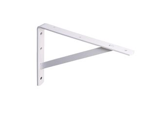 Knape & Vogt  Steel  White  Utility L-Shaped  Bracket  12 in. L