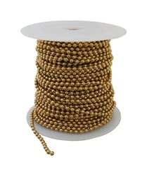 Hy-Ko Products  Brass  1/8 in. Dia. Beaded  Chain  Yellow