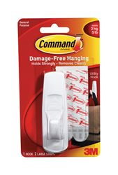 3M Command  Large  Utility  Hook  3-7/8 in. L Plastic  5 lb. 1 pk