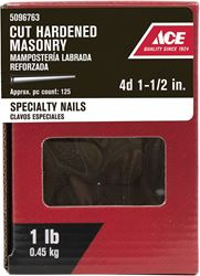 Ace  Flat  1-1/2 in. L Masonry  Nail  Tapered  Bright  Steel  1 lb.