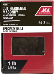 Ace  2 in. L Masonry  Nail  Tapered  Bright  1 lb.