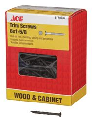 Ace  Trim Screw  Phillips  Fine  No. 6  1-5/8 in. L Black Phosphate  1 lb.