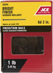 Ace  Countersunk  2 in. L Finishing  Nail  Smooth  Bright  Steel  1 lb.