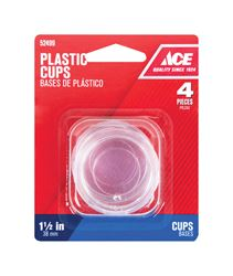 Ace  Plastic  Round  Caster Cup  Clear  1-1/2 in. W 4 pk