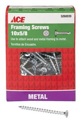 Ace  Framing Screws  Phillips  Tapping  No. 10  5/8 in. L Zinc  1 lb.