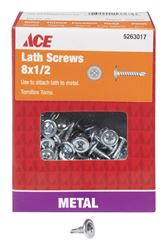 Ace  Lath Screws  Phillips  Tapping  No. 8  1/2 in. L Zinc  1 lb.