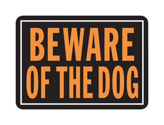 Hy-Ko  English  10 in. H x 14 in. W Aluminum  Sign  Beware of Dog