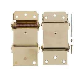 Ace  3 in. Dia. x 3 in. L Bright Brass  Self Closing Hinge