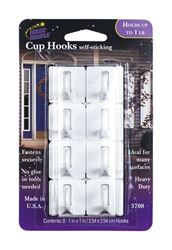 Magic Mounts  1 lb. Metal  Adhesive  Picture/Cup Hook  8 pk