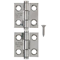 Ace  1 in. L Narrow Hinge  Stainless Steel