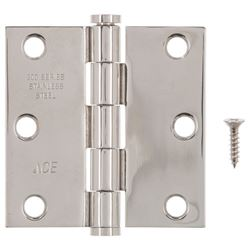 Ace  Steel  Residential Hinge  3 in. L Stainless Steel  1 pk