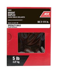 Ace  Double  2-1/4 in. L Duplex  Nail  Annular Ring Shank  Bright  5 lb.
