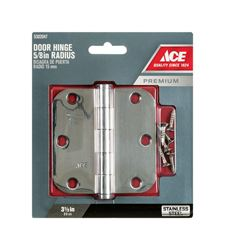 Ace  Steel  Residential Hinge  3-1/2 in. L Stainless Steel  1 pk
