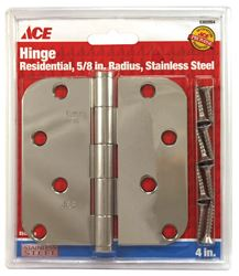 Ace  Steel  Residential Hinge  4 in. L Stainless Steel  1 pk