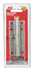 Ace Barrel Bolt 4 in. Galvanized For Lightweight Doors, Chests and Cabinets