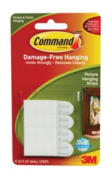 3M Command  Small  Picture Hanging  Adhesive Strips  2-1/8 in. L Foam  1 lb. per Set  8 pk
