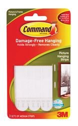 3M Command  Medium  Picture Hanging  Adhesive Strips  2-3/4 in. L Foam  3 lb. per Set  6 pk
