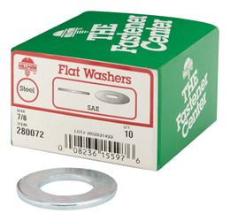 Hillman  SAE Flat Washers  7/8 in. Zinc-Plated  Steel  10 pk