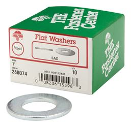 Hillman  Zinc  1 in. SAE Flat Washer  10 pk