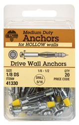 Hillman  Drive Wall Anchors  1/8 Short  20 pk