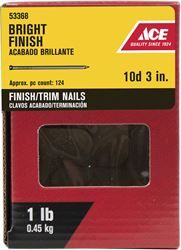 Ace  Countersunk  3 in. L Finishing  Nail  Smooth  Bright  Steel  1 lb.