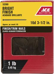 Ace  Countersunk  3-1/2 in. L Finishing  Nail  Smooth  Bright  Steel  1 lb.