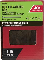 Ace  Flat  1-1/2 in. L Box  Nail  Thin  Hot-Dipped Galvanized  Steel  1 lb.