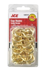 Ace  1.875 in. L Bright Brass  Brass  Cup Hook  40 pk