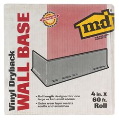 M-D Building Products  Coved  Wall Base  Vinyl  4 in. H x 60 ft. W White