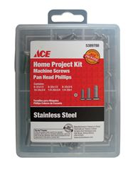 Ace  Screw Kit  Phillips  High/Low  Assorted in. L Galvanized  Silver