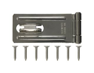 Ace  Stainless Steel  Fixed Staple Safety Hasp  3-1/4 in. L