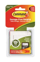 3M Command  3 lb. Foam  Large  Picture Hanging Strips  12 pk