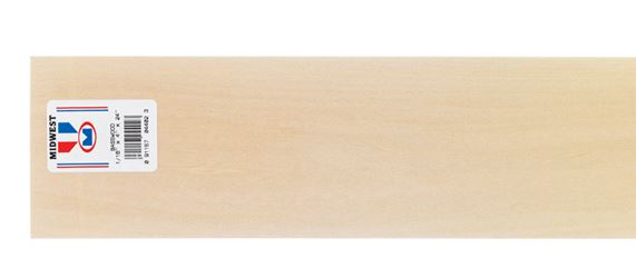 Midwest Products  Basswood  Sheet  1/16 in.  x 4 in. W x 2 ft. L