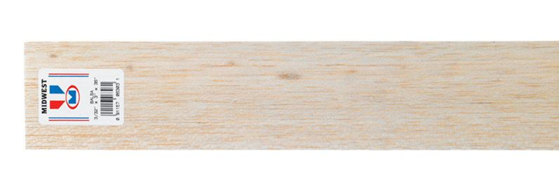 Midwest Products  Balsawood  Sheet  3/32 in.  x 3 in. W x 3 ft. L