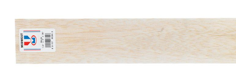 Midwest Products  Balsawood  Sheet  1/8 in.  x 3 in. W x 3 ft. L