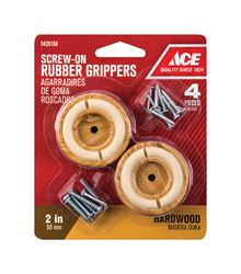 Ace  Rubber  Round  Non-Slip Cup for Hardwood Floors  Brown  2 in. W 4 pk