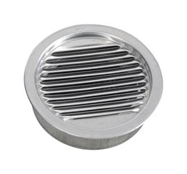 Air Vent  Mini Louver  3 in. W Silver