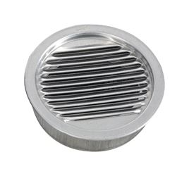 Air Vent  Mini Louver  4 in. W Silver
