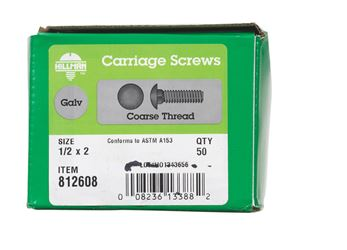 Hillman  1/2  Dia. x 2 in. L Hot Dipped Galvanized  Carriage Bolt  50 pk