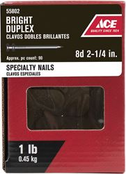 Ace  Double  2-1/4 in. L Duplex  Nail  Thin  Bright  Steel  1 lb.