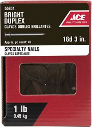 Ace  Double  3 in. L Duplex  Nail  Thin  Bright  Steel  1 lb.