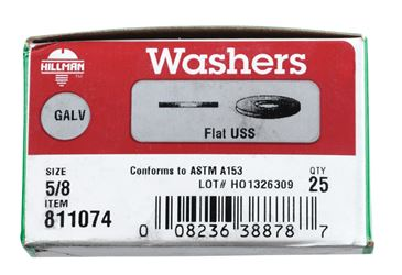 Hillman  Hot Dipped Galvanized  5/8 in. USS Flat Washer  25 pk