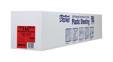 Berry Plastics  Film-Gard  Plastic Sheeting  6 mil  x 10 ft. W x 100 ft. L Polyethylene  Black