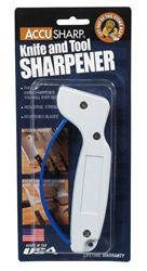 Accusharp  Metal  Knife Sharpener  White